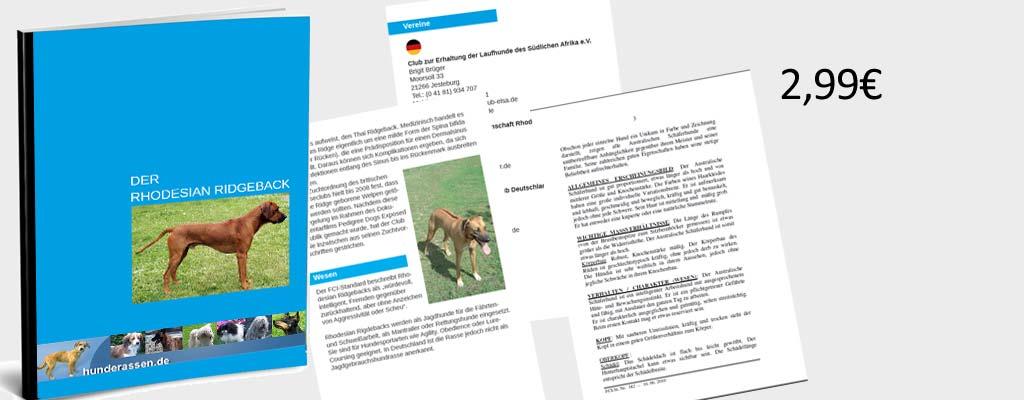 Vorschaubild Inhalt vom ebook Rhodesian Ridgeback
